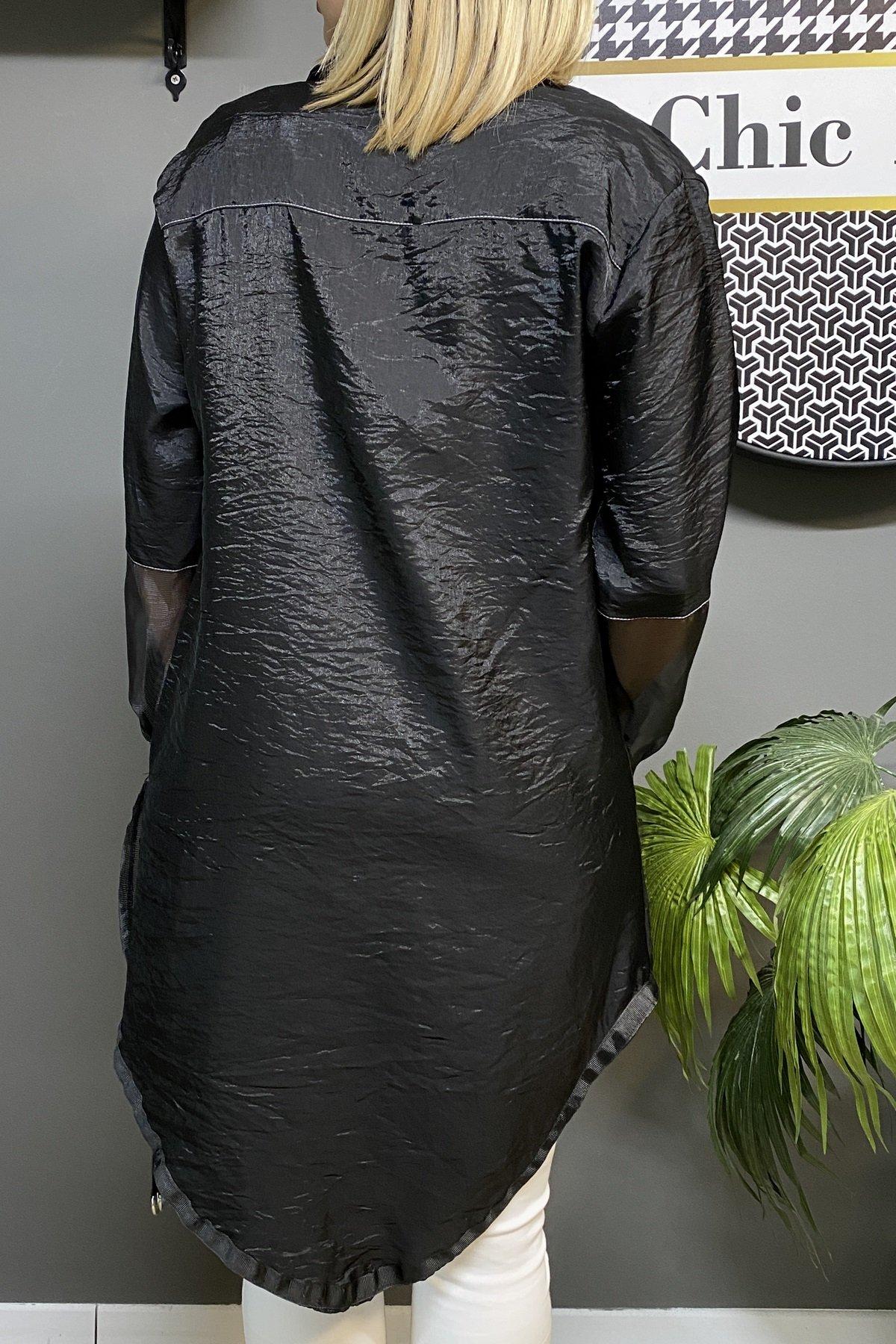 Organze Kollu İpek Gömlek